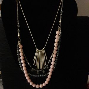 Gold Plated Beaded Layered Necklace